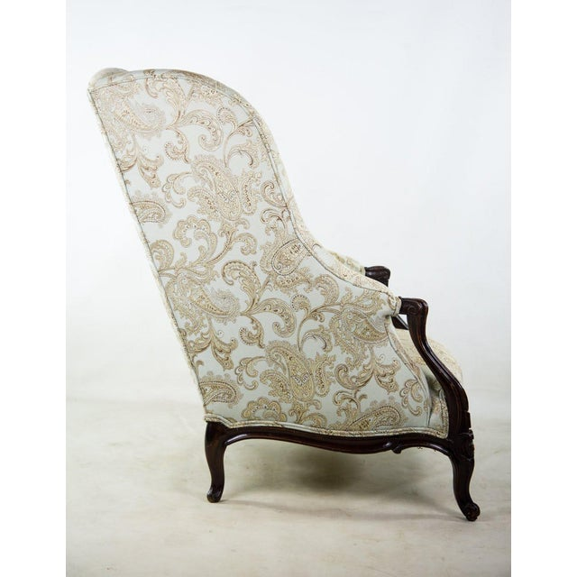 19th C. French Louis XV Style Low Bergere Chair For Sale - Image 4 of 11