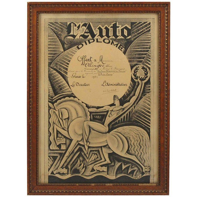 Maurice Pico Picauld Design French Automobile Magazine Art Deco Print For Sale - Image 11 of 11