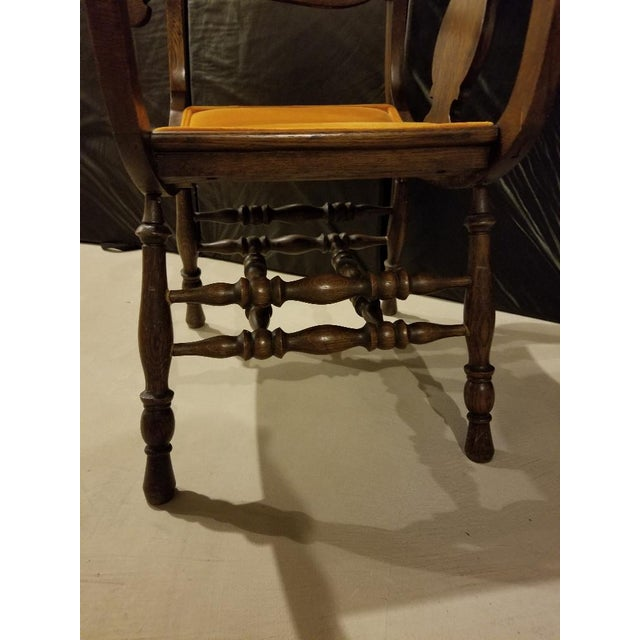Vintage Mid-Century Curule Arm Chair For Sale - Image 4 of 11