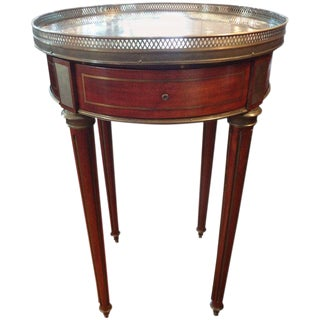 Late 19th Century Antique French Louis XVI Style Walnut Bouillotte Table For Sale