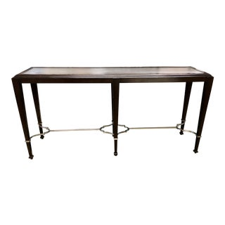 Traditional Wood Console Sofa Table For Sale
