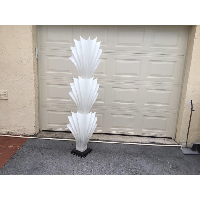 1970s Art Deco Rougier White Acrylic Floor Lamp - Image 2 of 11