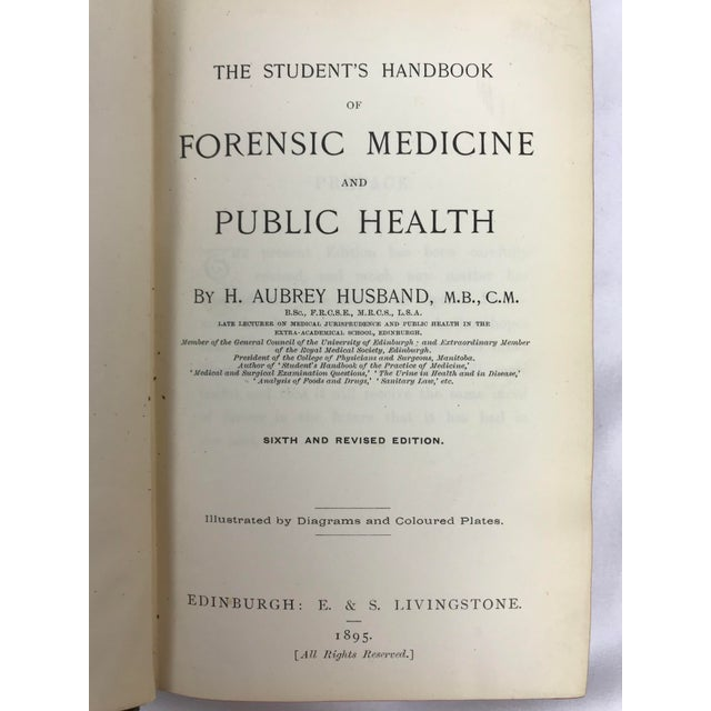 Late 19th to Early 20th Century Antique Petite Reference Library of a Surgeon - Set of 7 Books For Sale - Image 12 of 13