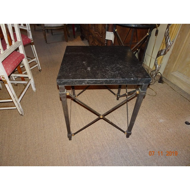 Contemporary Marble Side Table For Sale - Image 9 of 13