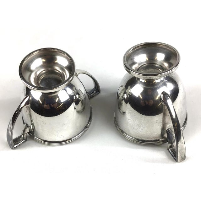 Oxford Silver Plated Sugar and Creamer - a Pair For Sale - Image 9 of 10