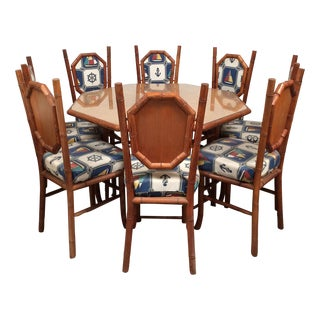 Nautical Redwood Card Dining Set