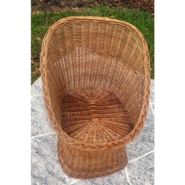 1970s 1970s Vintage Wicker Chair For Sale - Image 5 of 5