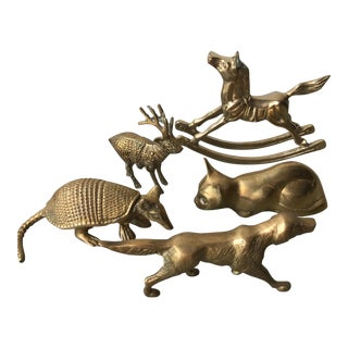 Brass Animals - Set of 5 For Sale