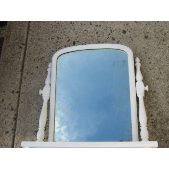 Antique Victorian Tilt Cottage Farmhouse Shaving Table Top Mirror - Image 5 of 9