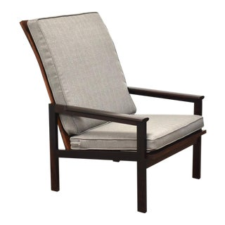Illum Wikkelso Rosewood High Back Lounge Chair For Sale