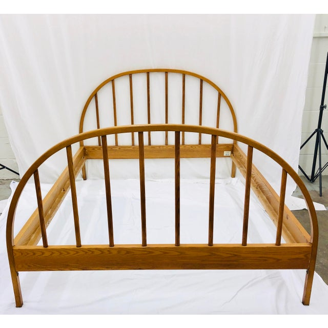 Vintage Mid Century Modern Danish Style Wooden Bed For Sale - Image 4 of 13