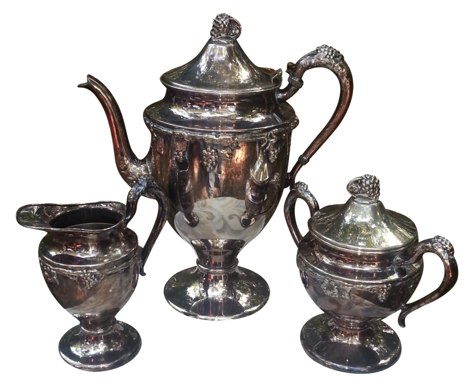 Silver Plated Coffee Set - Set of 4 - Image 1 of 7  sc 1 st  Chairish & Silver Plated Coffee Set - Set of 4 | Chairish