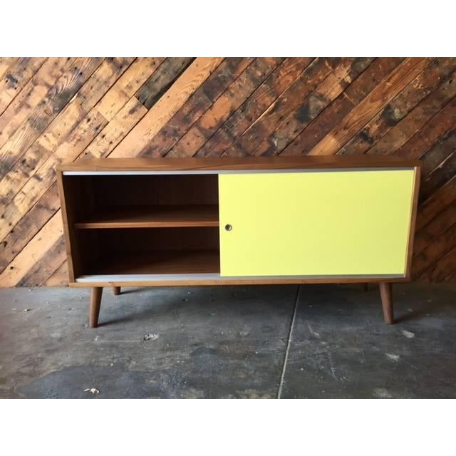 Mid Century Style Custom Two Tone Credenza For Sale - Image 4 of 7
