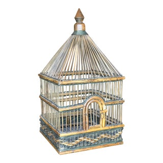 Palecek Wicker & Rattan Birdhouse For Sale