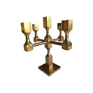 Mid-Century Swedish Metallslöjden Gusum Brass Candelabra