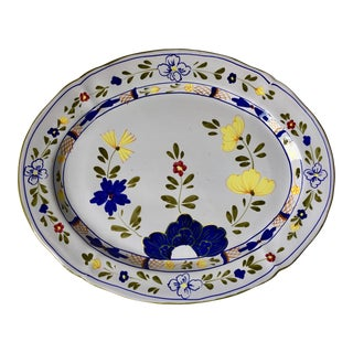 "Cantagalli Italian Faience 16""Hand-Painted Platter For Sale"