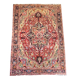 1920s Antique DecorativePersian Heriz Rug For Sale