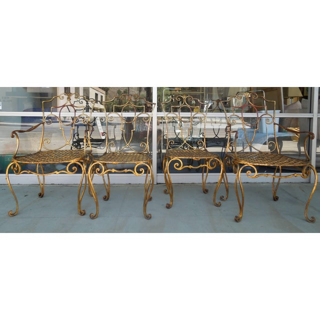 The most beautiful set of four French Modern chairs designed by Jean-Charles Moreux. They were part of an amazing...