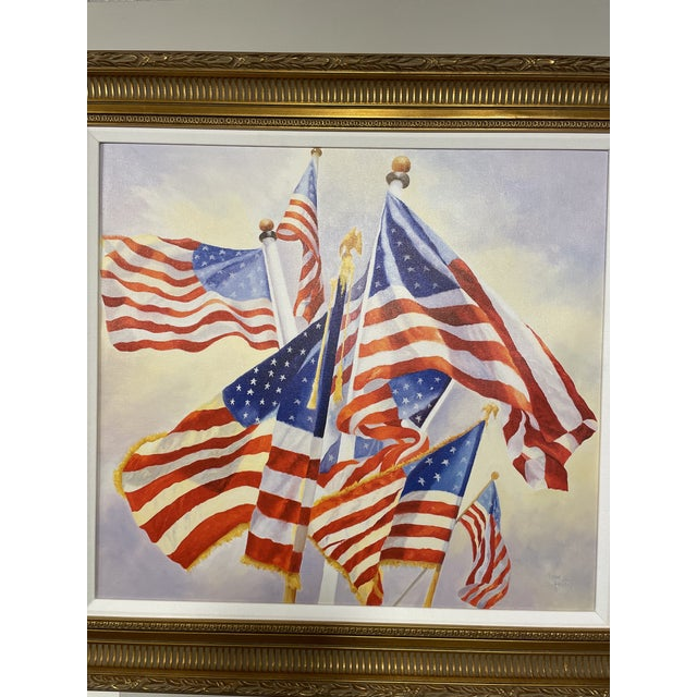 Stars and Stripes giclee painted by Boston artist Debbie Hearle
