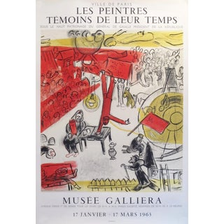 1963 Original French Exhibition Poster, Musee Galliera - Chagall For Sale