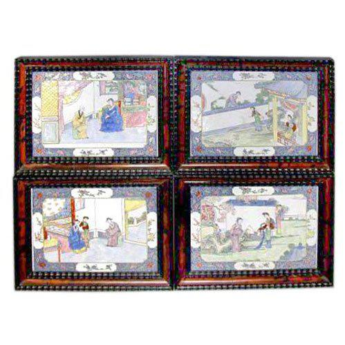 18th Century Canton Enamel Plaques - Set of 4 For Sale In New York - Image 6 of 6