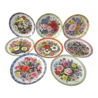Bouquets of the World Display Plate Collection, S/8 For Sale