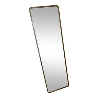 Restoration Hardware Minimalist Brass Wrapped Mirror For Sale