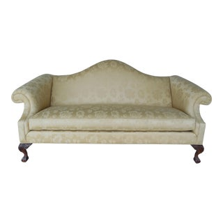 "ETHAN ALLEN Chippendale Style Ball & Claw Foot Camel Back Sofa 82""W"