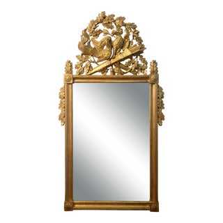 Gorgeous Antique Neoclassical Chinoiserie Italian Gilt Wall Mirror For Sale