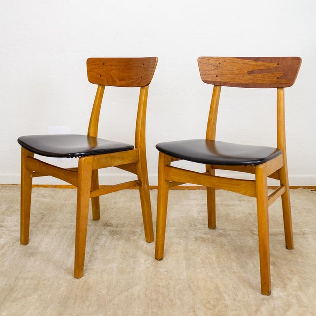 Brilliant Danish Mid Century Dining Chairs Curved Back Pair Of Two Machost Co Dining Chair Design Ideas Machostcouk