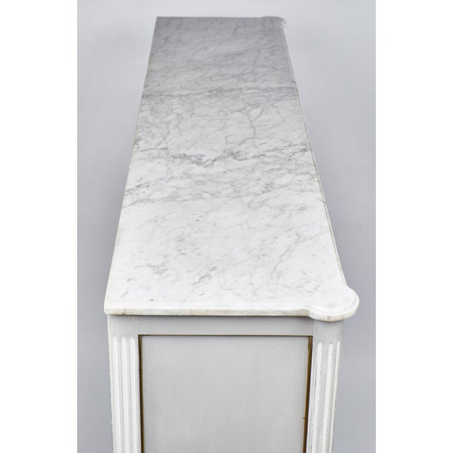 19th Century Louis XVI Marble-Top Vitrine - Image 6 of 10