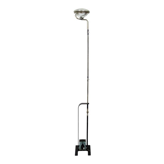 Castiglioni Toio Industrial Black Floor Lamp by Flos For Sale