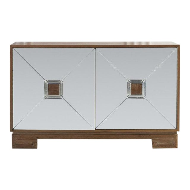 Bleached Mahogany Mirrored Sideboard Attributed to Tommi Parzinger For Sale - Image 10 of 10