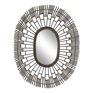 Brutalist Style Wall Mirror For Sale
