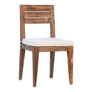 Salvaged Teak Dining Chair W/Cushion For Sale