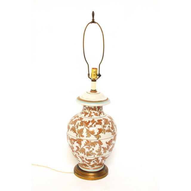 Faience Style Ceramic Urn Table Lamp - Image 3 of 6