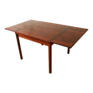 Danish Modern Rosewood Extension Dining Table For Sale