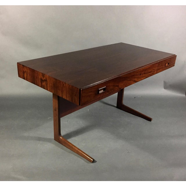 """Rosewood 1970 """"Cassette"""" Desk in Rosewood, Style of Georg Petersens For Sale - Image 7 of 12"""