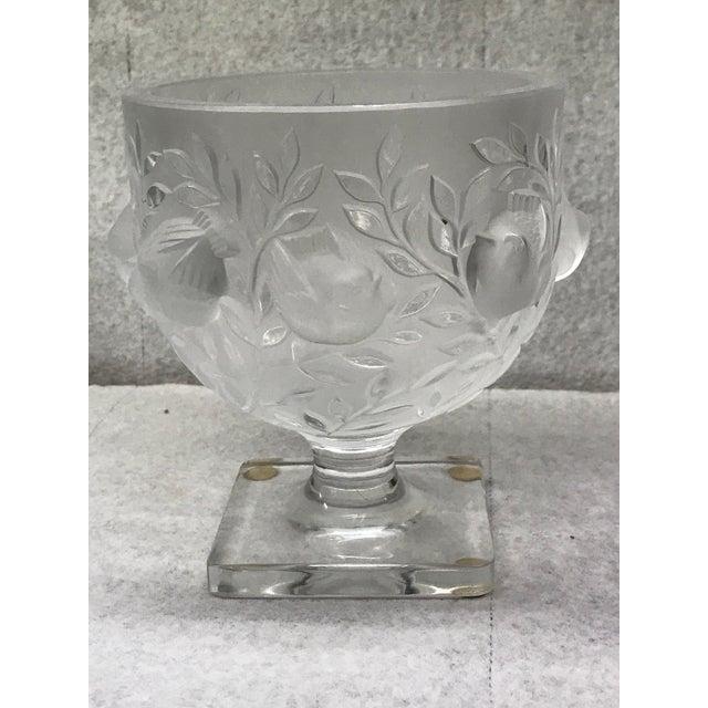 Lalique Elizabeth Crystal Vase Chairish
