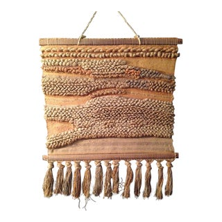 Vintage Woven Wall Hanging Art