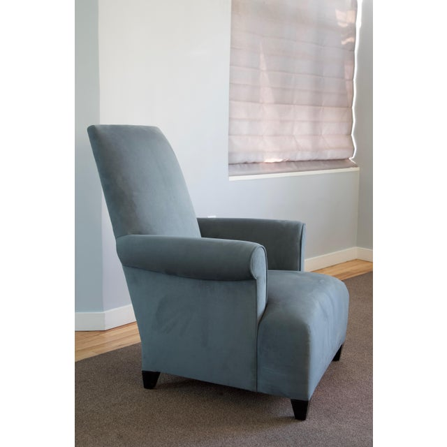 Blue Donghia Club Chairs Set 2 For Sale - Image 8 of 13