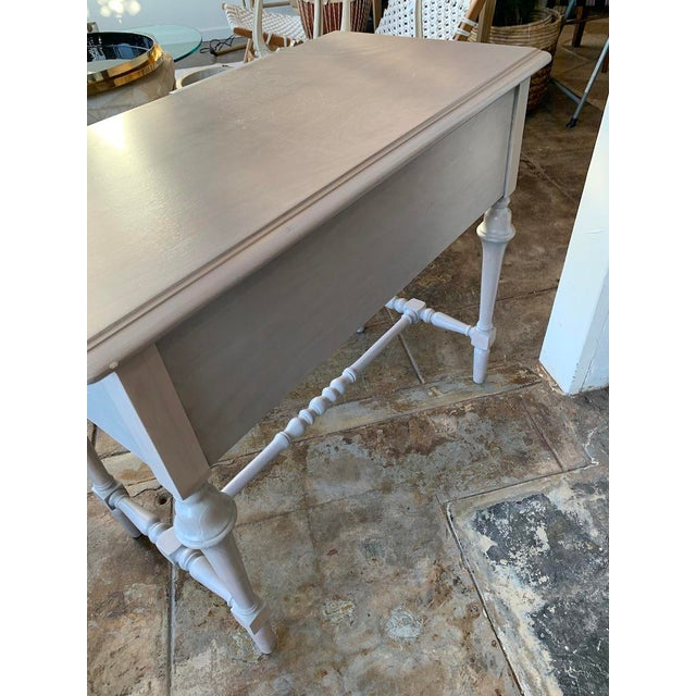 Gray 1920s Victorian Petite Desk or Vanity For Sale - Image 8 of 9