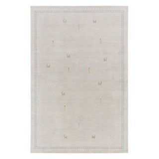 Surya Hand-Knotted Wood Catcus Silk Print Rug - 5′ × 7′6″