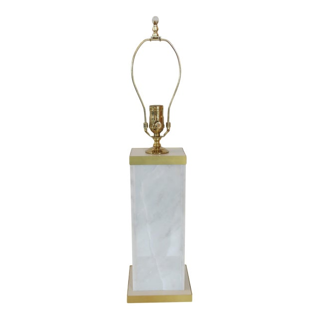 Custom Marble and Brass Lamp by C. Damien Fox - Image 1 of 9