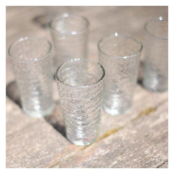 Idika Recycled Glass Dot Glasses - Set of 6 For Sale - Image 4 of 6