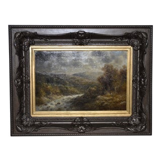 Thomas Griffin (American, 1858-1918) River Landscape Oil on Canvas 19th C. For Sale