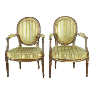 Louis XVI Style Children's Chairs- A Pair For Sale