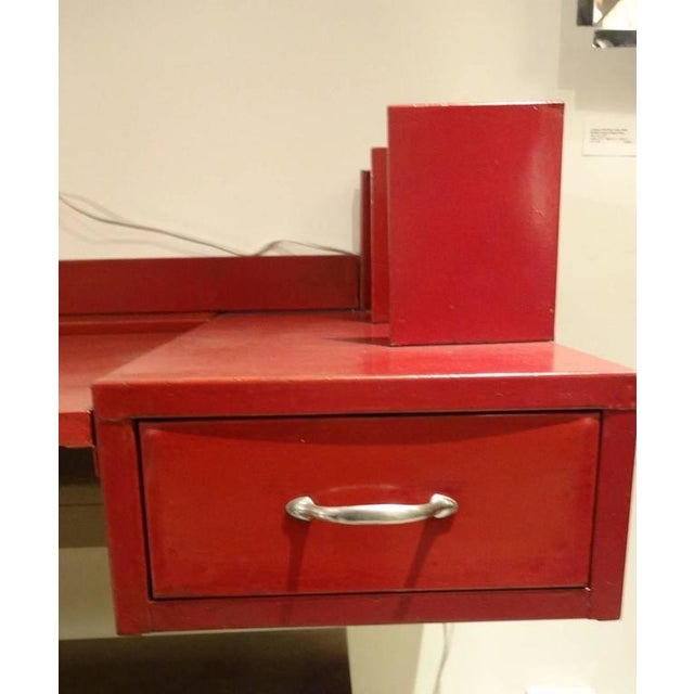 Jean Prouve and Jules Leleu Metal Wall-Mounted Desk, France Circa 1936 For Sale - Image 10 of 10
