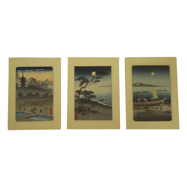 Japanese Block Prints - Set of 3 - Image 1 of 9