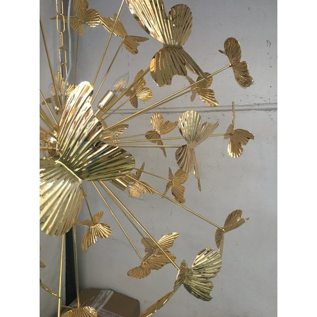 Italian Hand Made Gold 24k Butterfly Sputnik Chandelier For Sale - Image 11 of 13